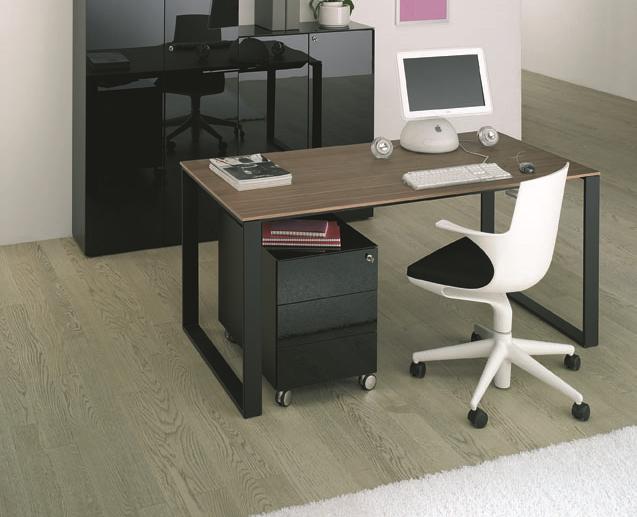 maxim schreibtisch mit echtholzfurnier tischplatte buerado. Black Bedroom Furniture Sets. Home Design Ideas