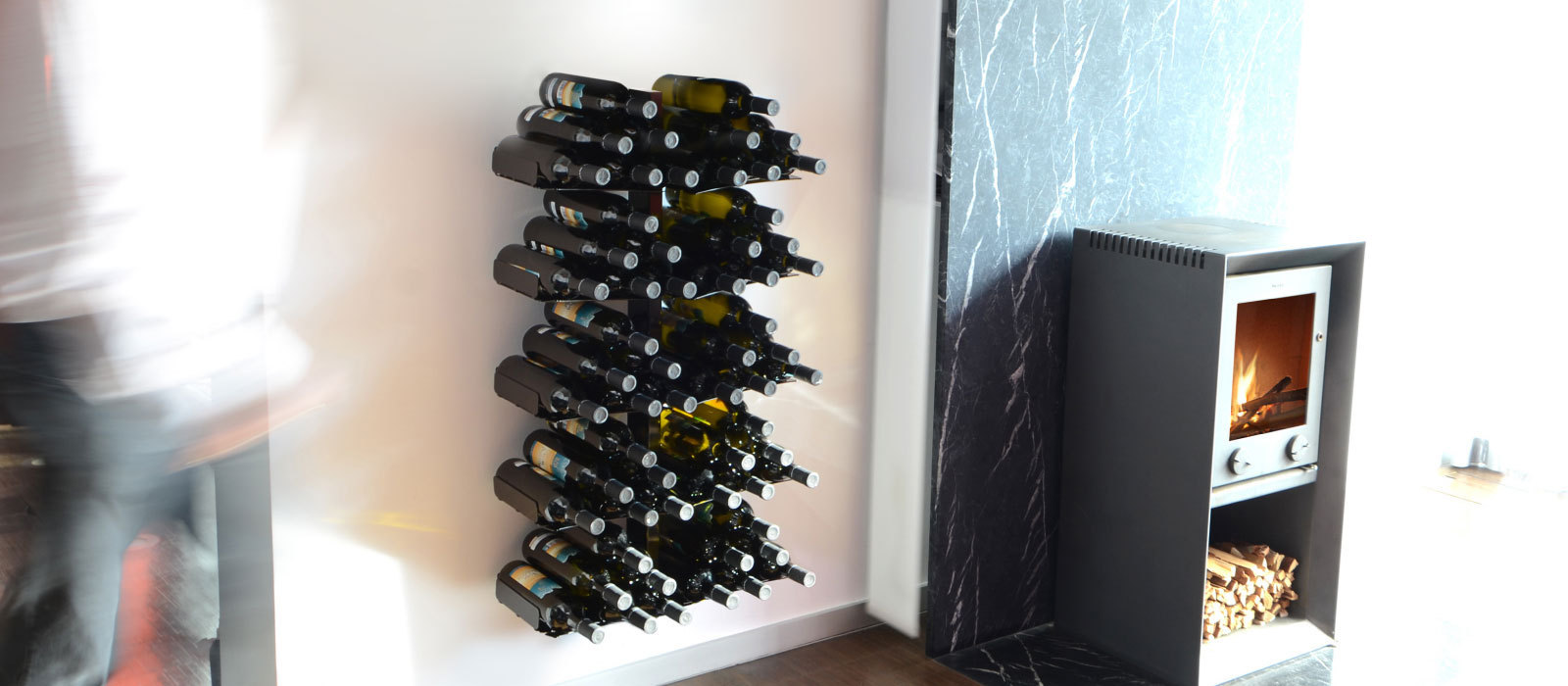 Regal Dachschrage Design: Weinregal Wine Tree (Wandversion) Von Radius Design