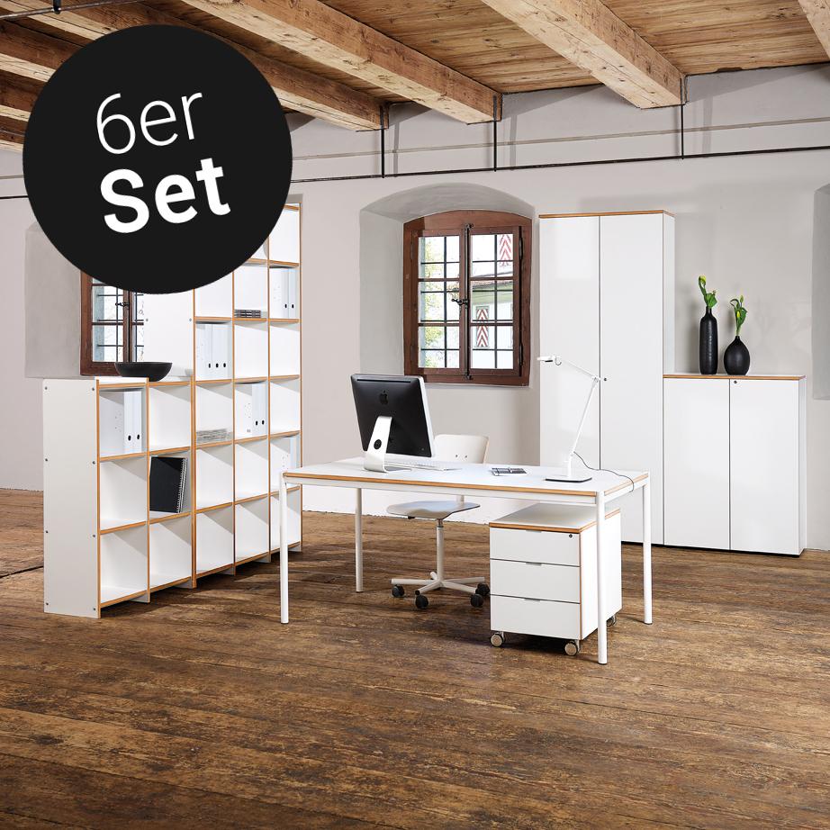Archivar Von Reinhard Buromobel 6er Set Gunstig Kaufen Buerado