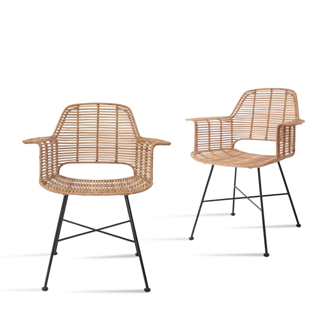 hk living stuhl rattan tub g nstig kaufen buerado. Black Bedroom Furniture Sets. Home Design Ideas