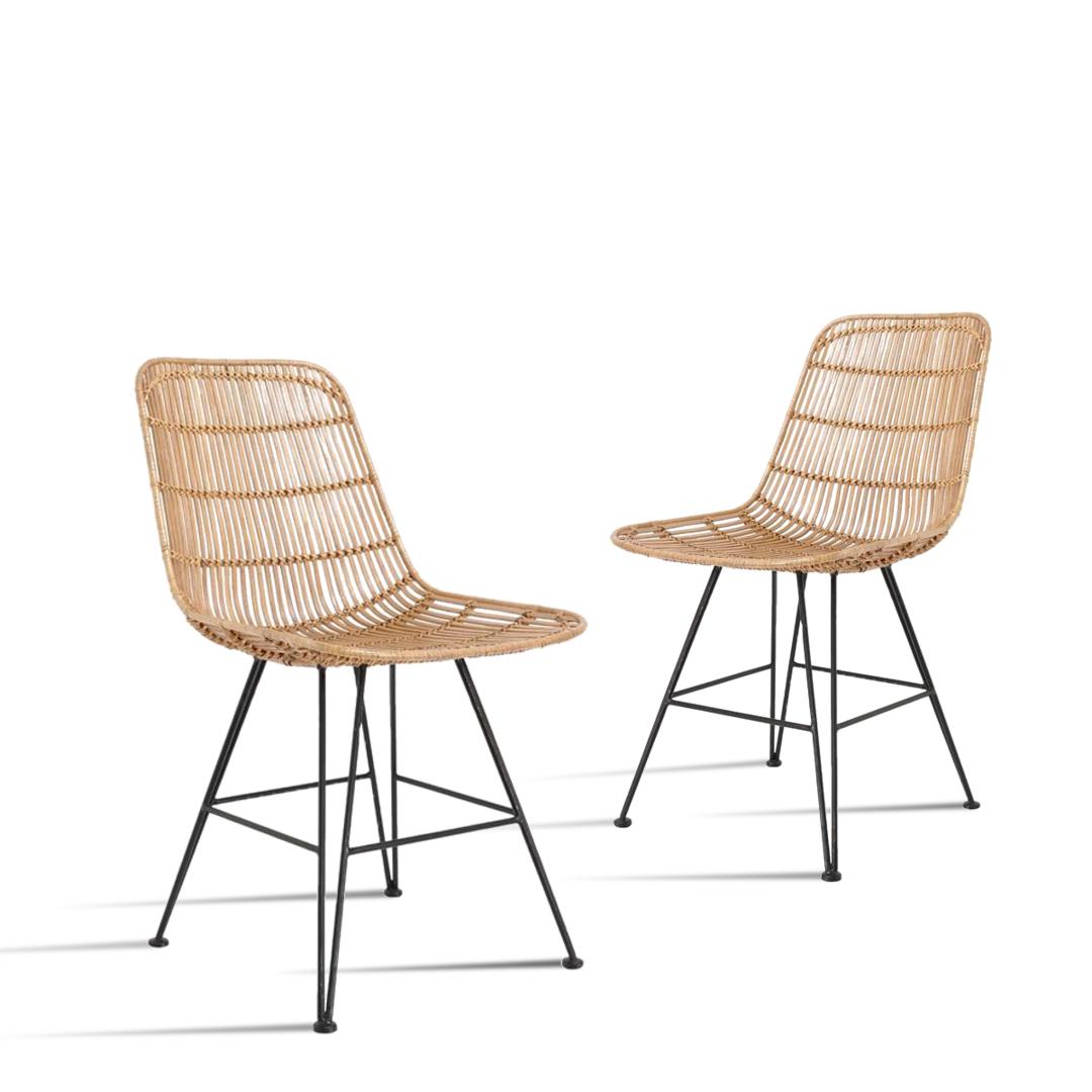 Hk living stuhl rattan super g nstig kaufen buerado for Design stuhl freischwinger piet 30