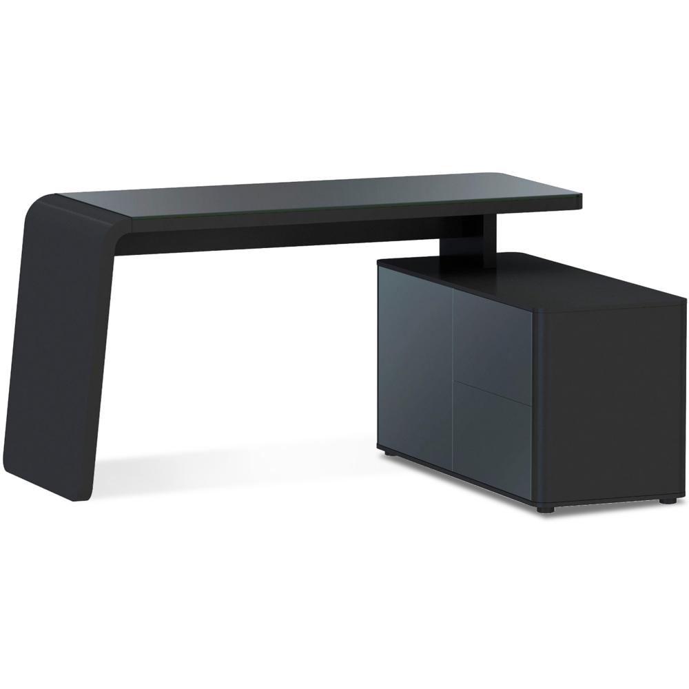 Eckschreibtisch schwarz weiß  CSL 465 e Jahnke Schreibtisch günstig kaufen | BUERADO