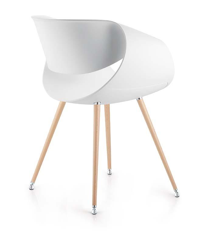 armlehnenstuhl z co little perillo pt032 mit holzbeinen buerado. Black Bedroom Furniture Sets. Home Design Ideas