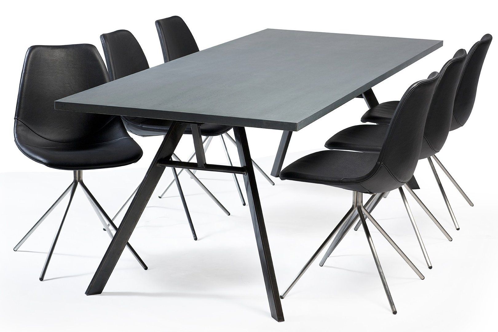 esstisch nando grau von dan form designtisch buerado. Black Bedroom Furniture Sets. Home Design Ideas