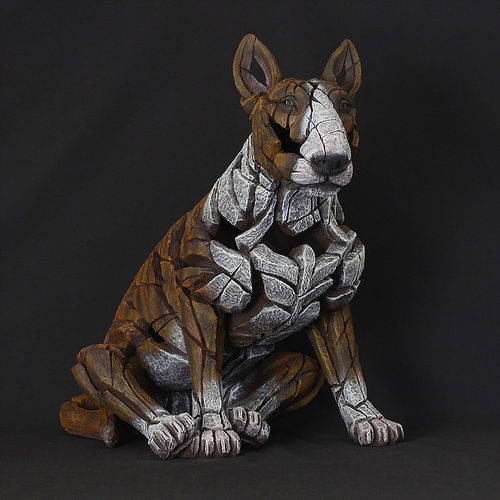 Skulptur Bull Terrier Edge Sculpture