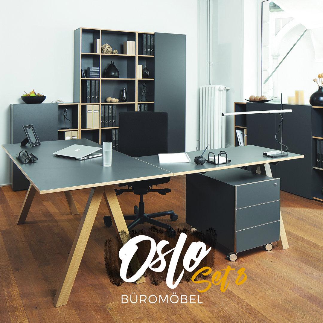 Oslo b rom bel 8er set von reinhard g nstig buerado for Buero moebel