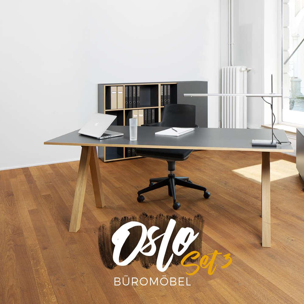Reinhard Oslo 3er Set: Büromöbel günstig kaufen | BUERADO