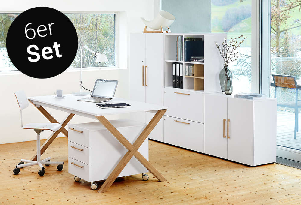 X-Legno 6er-Set Büromöbel von Reinhard zum Bestpreis | buerado.de