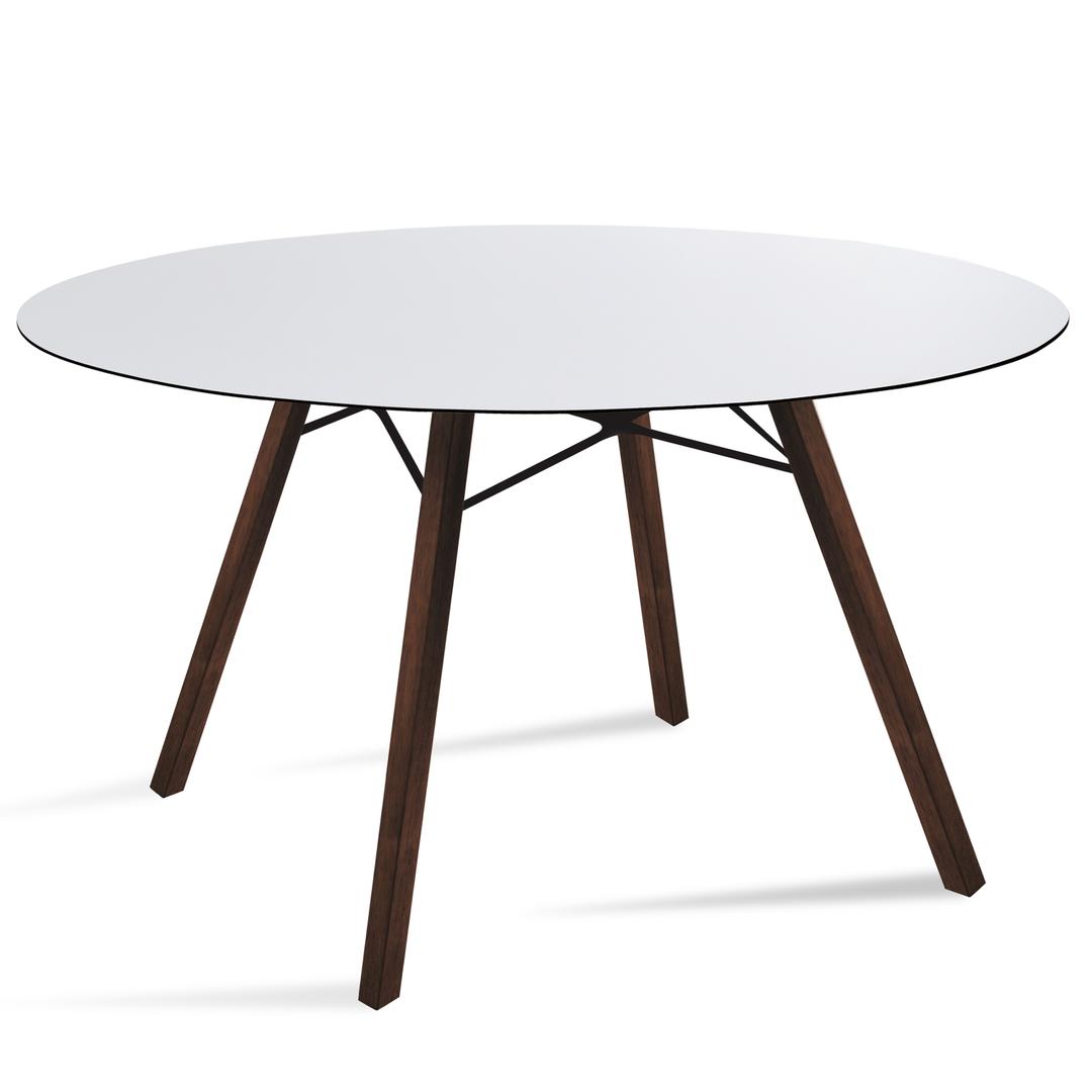 tisch wox iroko 120cm rund von papatya. Black Bedroom Furniture Sets. Home Design Ideas