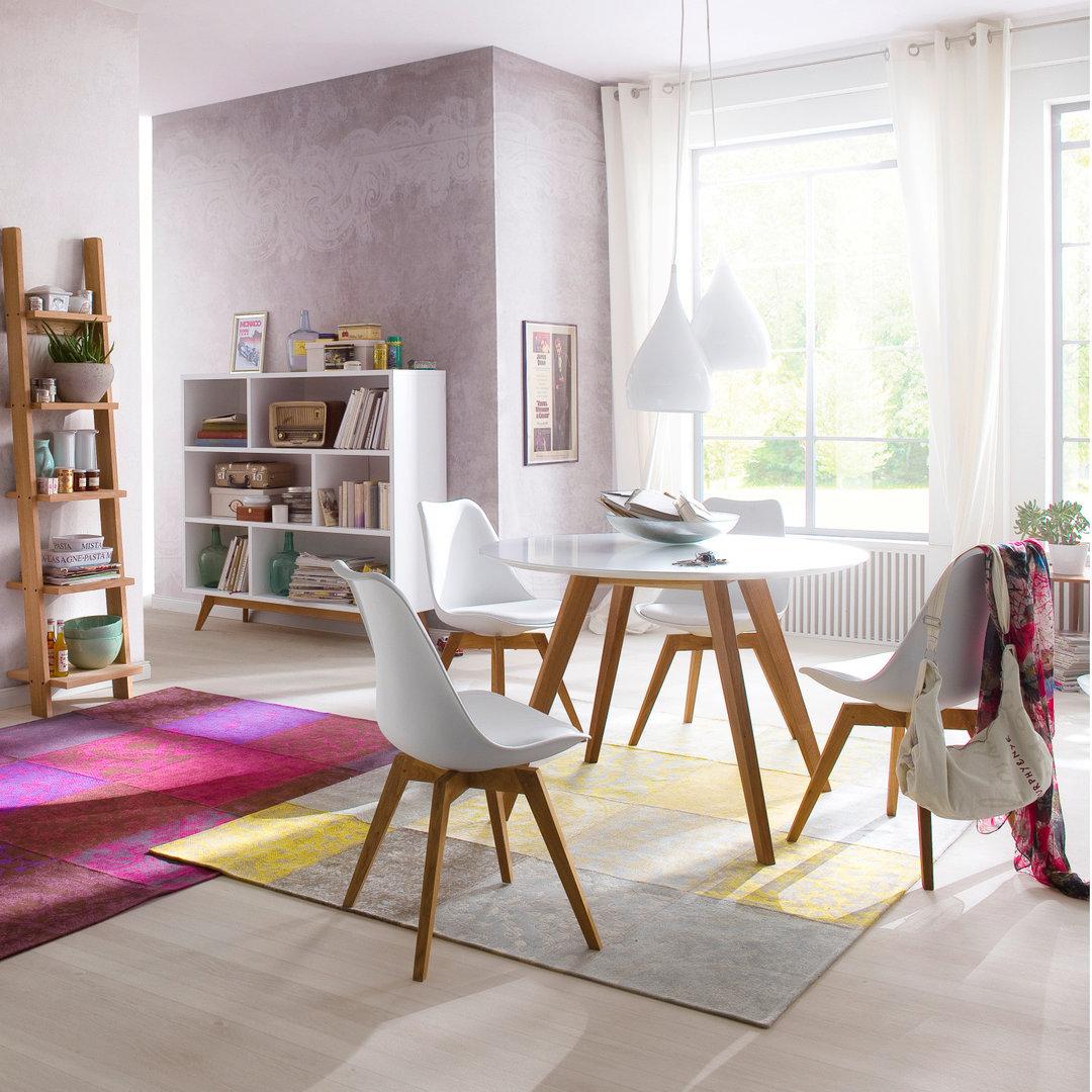 runder esstisch wei in wei with runder esstisch wei. Black Bedroom Furniture Sets. Home Design Ideas