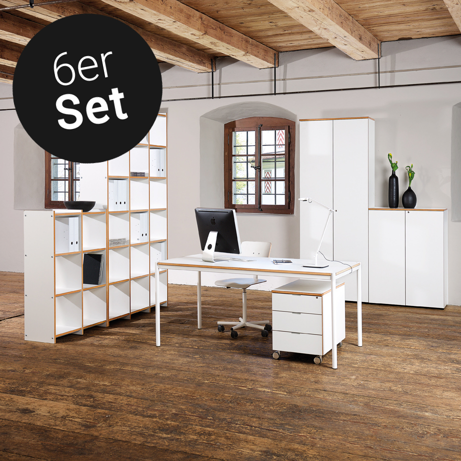 archivar von reinhard b rom bel 6er set g nstig kaufen buerado. Black Bedroom Furniture Sets. Home Design Ideas