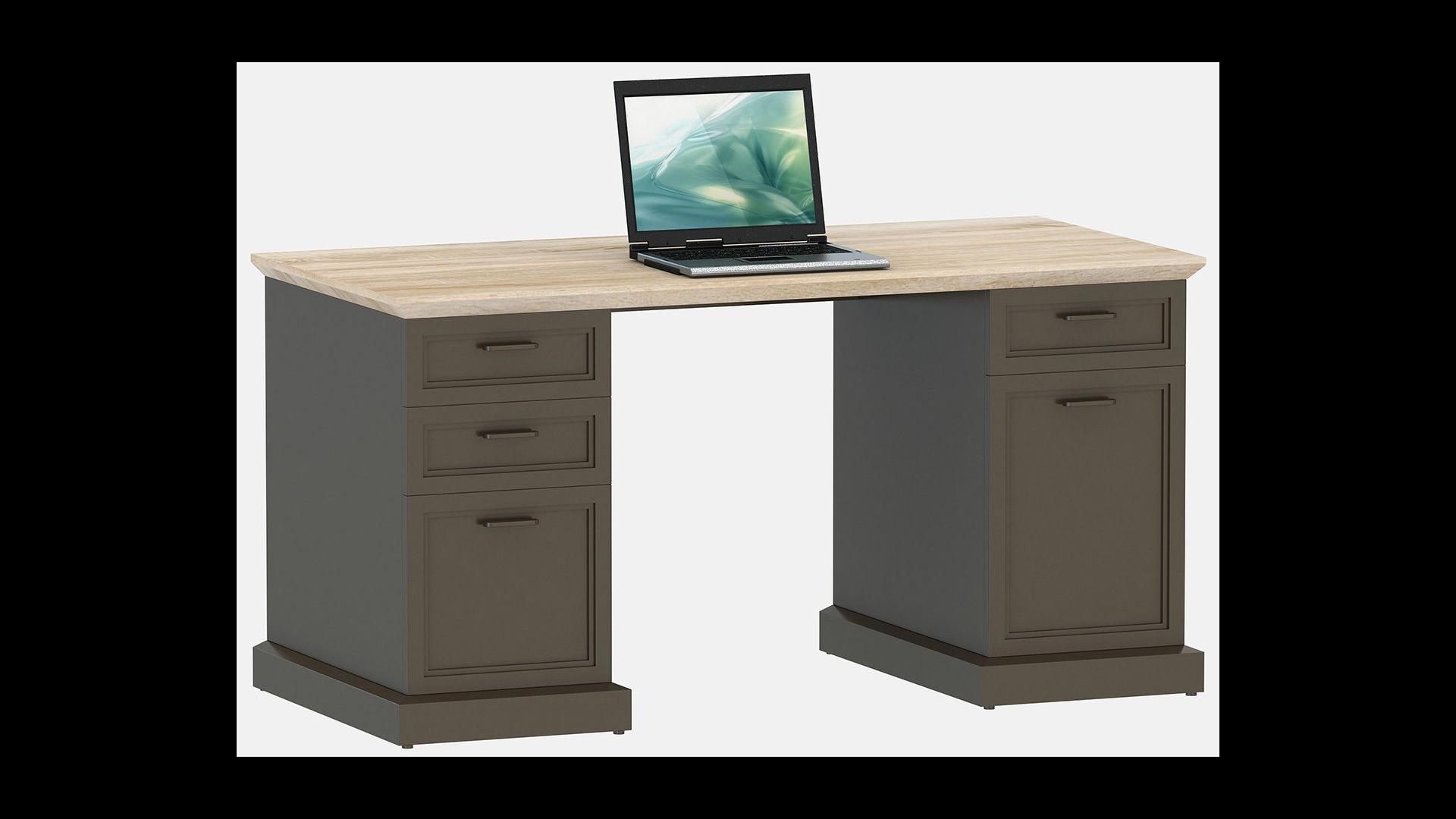Schreibtisch classic desk 150 von jahnke g nstig bestellen for Schreibtisch 150
