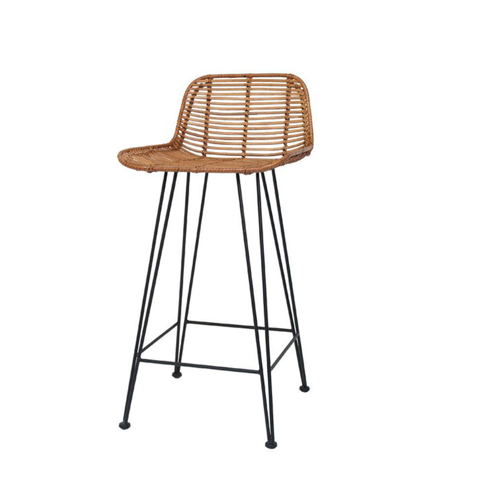 Hk living barhocker rattan bar g nstig kaufen buerado for Rattan barhocker