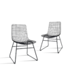 HKliving - Wire Chair Stuhl aus Metall (2er-Set)