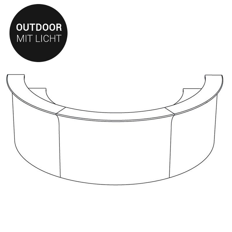 Beleuchtete Komplett-Bar T4 (Outdoor geeignet) von Slide günstig