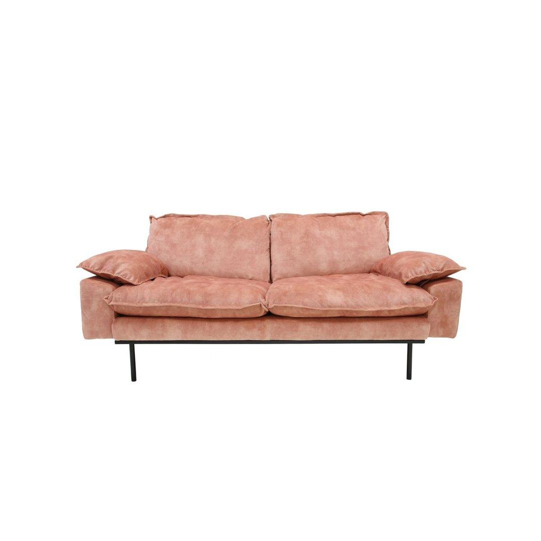 Hk living retro sofa 2 sitzer g nstig kaufen for Sofa altrosa