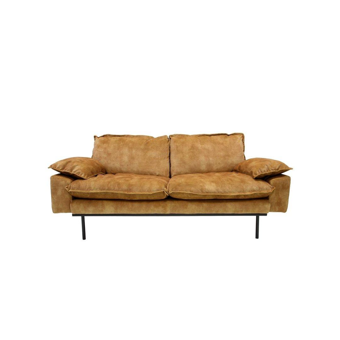 hk living retro sofa 2 sitzer g nstig kaufen. Black Bedroom Furniture Sets. Home Design Ideas