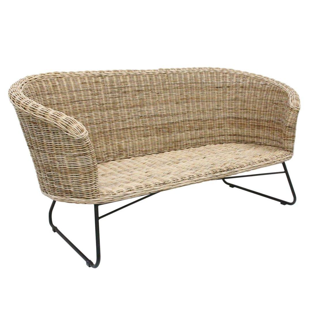 HK Livinig Rattan Sofa günstig kaufen | buerado.de