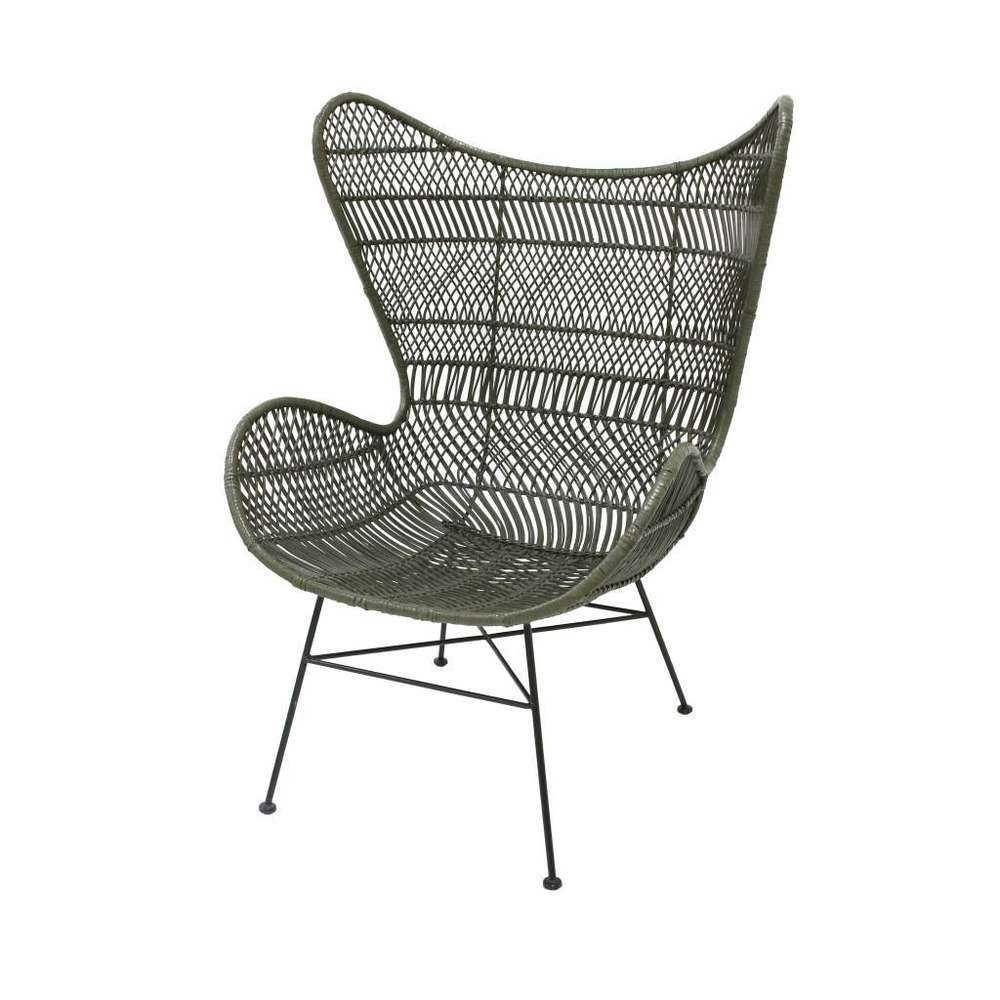 Uberlegen HK Living   Rattan Egg Chair Bohemian