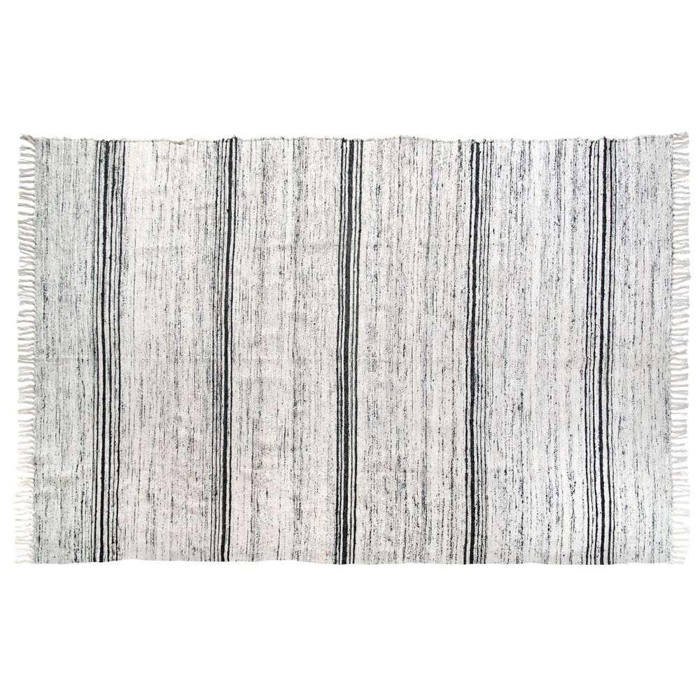 HK Living   Seiden Teppich Schwarz Weiß