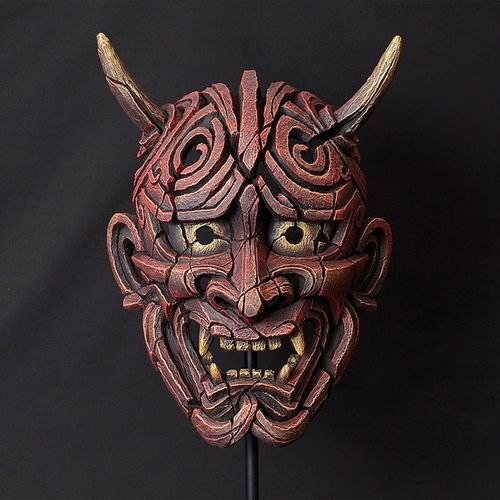 Edge Sculpture - Japanese Hannya Warrior Maske