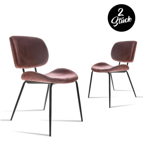 HKliving - Dining Chair Samt Stuhl (2er-Set)
