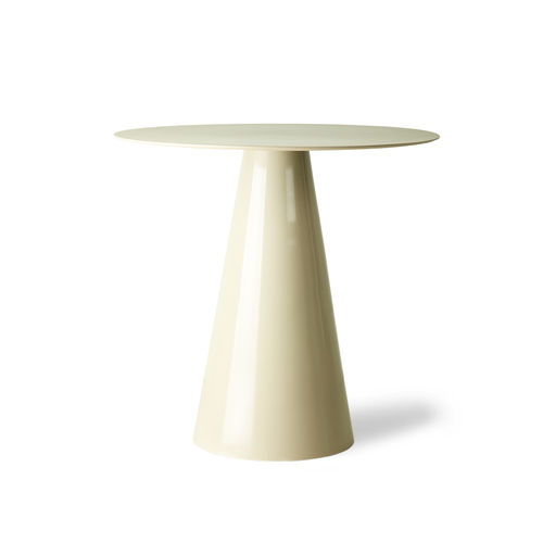 HKliving - Cream Metal Side Table Beistelltisch L