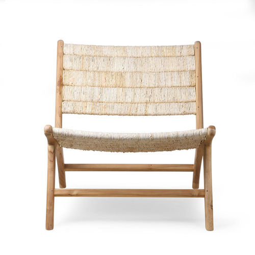 HKliving - Abaca Teak Lounge Chair Sessel