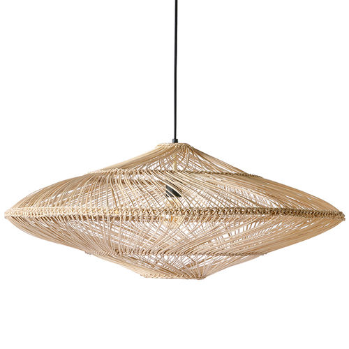 HKliving - Wicker Hanging Lamp Oval Natural