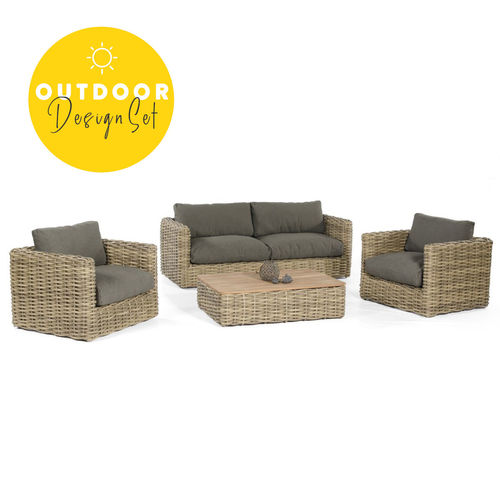 Sonnenpartner - Sands Polyrattan Loungemöbel (4er-Set)