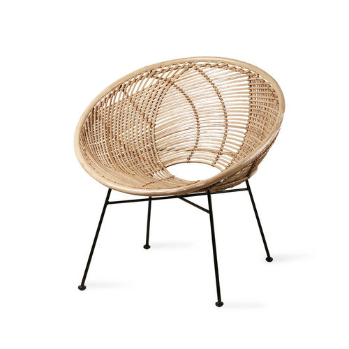 HKliving - Rattan-Ball-Loungesessel