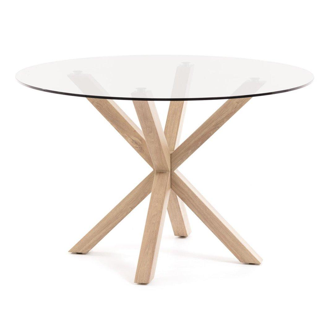 LOHJA Tisch mit runder Glasplatte   BUERADO
