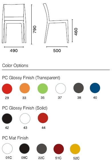 gyza papatya stuhl farben - Stuhlfarben